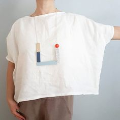 do lists or books This mid century wall art piece by Birdsong has the cheerful simplicity of Scandinavian art, combined with a art vibe. Mid Century Wall Art, Linen Blouse, Diy Clothes, Shirt Style, What To Wear, Tunic Tops, Style Inspiration, My Style, Womens Fashion