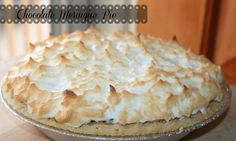 Easy Chocolate Meringue pie Recipe #Chocolatepie #Pies #Meringue