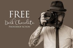 Dark Chocolate Photoshop Action: FREE