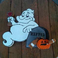 Groovie Ghoulies Wine Drinking Ghost Ripped  and his by Winefi