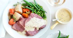 This tender corned silverside from taste member, 'wickerdude' is served with tangy mustard sauce.