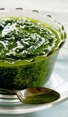 Watercress Pesto  - In Tennessee, watercress grows wild along the state's cool running streams, showing up in the first warm days of spring.