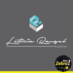 Criação da Logo para a Letícia, arquiteta. Um belo resultado. Deu Zebra! #agência #logo #publicidade #comunicação #design #criação #arte #propaganda #zebra #marca #arquitetura #identidade #visual