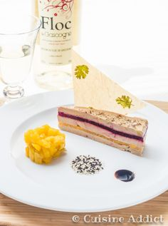 Millefeuille de Foie gras, Mangue & Betterave ♦ Chutney de Mangue au Floc de Gascogne