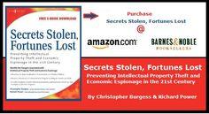 Secrets Stolen, Fortunes Lost - my book http://secretsstolen.com