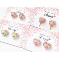 いいね!105件、コメント5件 ― Deary by saoさん(@sao_insta)のInstagramアカウント: 「* おはようございます◡̈♥︎ 桜ハートとミックスハートイヤリング ぷっくりお花のハートが耳元を可愛くしてくれます♡ ピアスもあります♪ #Dearyハート * * #minne #ピアス…」
