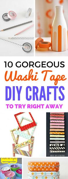 Washi Tape Ideas And Crafts that are perfect diy projects for the home, school, scrapbooking, room decor and so much more. They all are SUPER pretty and fun.