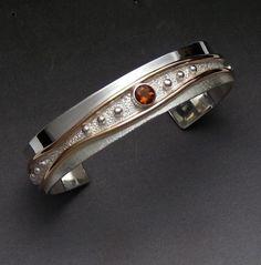 Cuff bracelet with citrine