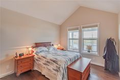 Master is very spacious with walk-in closet & 5 pce en suite. Diamond Realty & Associates Ltd. Selling Real Estate, Home Buying, Open House, Diamond, Bed, Closet, Furniture, Home Decor, Armoire