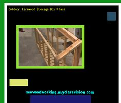 Outdoor Firewood Storage Box Plans 075059 - Woodworking Plans and Projects!