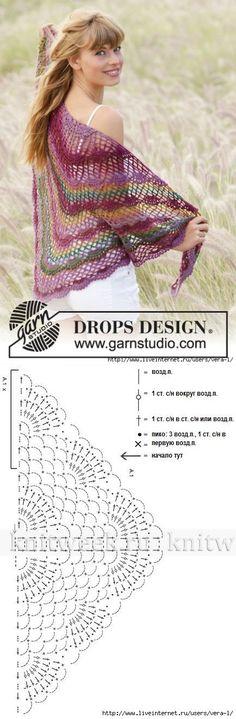 Momento inspiração!  Xale de crochê  Veja mais em ➡️➡️ www.artecomquiane.com ✂️