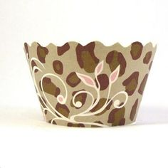 Cheetah Cupcake Wrappers - pack of 36
