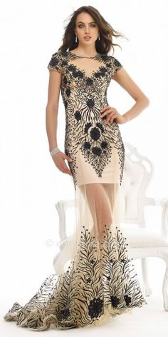 Sheer Skirt With Train Evening Dress By Morrell Maxie #edressme