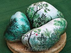 painted rocks for garden | Lois Cordelia Buelow-Osborne - Art Portfolio and Gallery