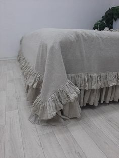 Ruffle Bedspread, Ruffle Blanket, Ruffled Tablecloth, Tablecloth Sizes, Chic Bedding, Linen Bedding, Bed Linens, Bed Scarf, Bed Runner