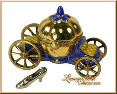 Cinderella Magic Coach 24K Gold Limoges Box - Retired
