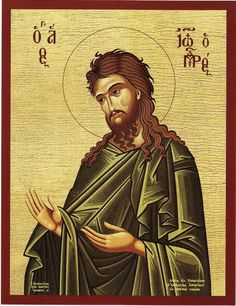 St John The Baptist Blessed Greek Orthodox Icon Art Religious Icons, Religious Art, Greek Icons, Meaningful Pictures, Byzantine Icons, John The Baptist, I Icon, Orthodox Icons, Sacred Art
