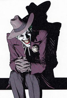 Joker by Brian Bolland -- Oh, look. Everybody's favorite lunatic... The Clown Prince of Crime.