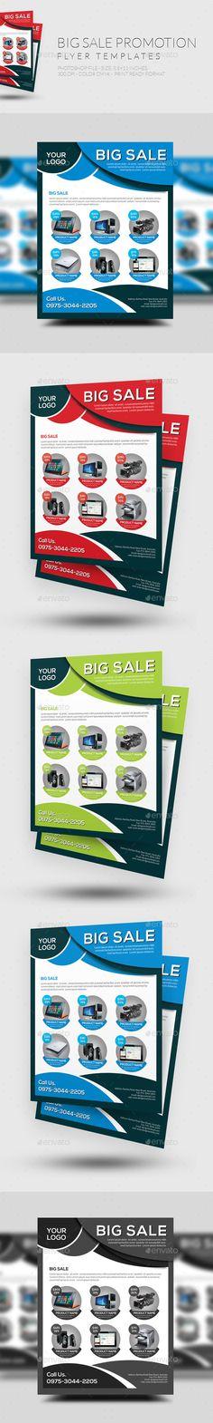 Big Sale Promotion Flyer Template #design Download: http://graphicriver.net/item/big-sale-promotion-flyer/12417128?ref=ksioks