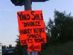 garage sales humor