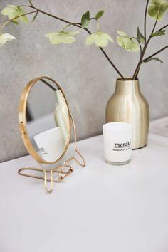 Décoration artificielle orchidée avec miroir et T-Light Holder One fourni