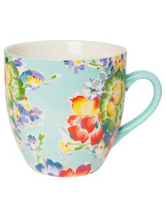 ART POPPY XL mug turquoise | Mugs/cups | null | Glass and Porcelain | Interior | INDISKA Shop Online