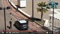 VIDEO: Policía detiene a hombre armado en plena calle.