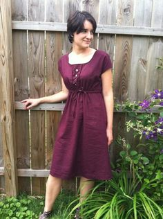 Purple Square-Neck Anda by thenchuff   Sewing Ideas