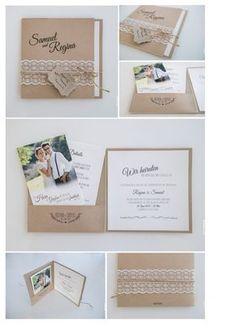 Pocketfolder-Hochzeitseinladung Gestaltung & Druck bei www.photonada.de