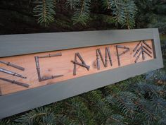 Camp Decor, Camp Sign, Gift For Him, Adirondack, Rustic Decor