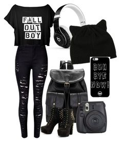 """""""High school: that false emo"""" by abdiva03 ❤ liked on Polyvore featuring Beats by Dr. Dre"""