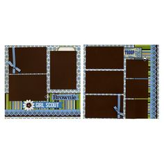 12x12 Premade Scrapbook Page  Brownie Girl by SusansScrapbookShack, $27.95