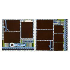 12x12 Premade Scrapbook Page  Brownie Girl by SusansScrapbookShack, $27.95