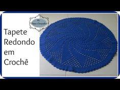 Tapete Redondo de Crochê Azul - Professora Simone - YouTube