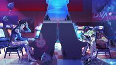 Vídeo Game Overwatch  D.Va (Overwatch) Genji (Overwatch) Papel de Parede