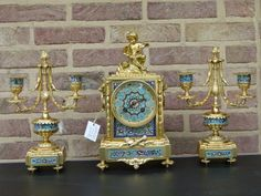 Outstanding three pieces clockset with cloisonné from 1900 in good condition. Discover more beautiful items from Johan Doomen's collection, a professional Belgian antique dealer, on Transferantique. Decorative Boxes, Antiques, Stuff To Buy, Beautiful, Collection, Things To Sell, Antiquities, Antique, Decorative Storage Boxes