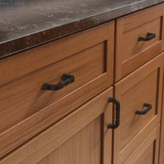 Liberty Liberty Hardware Hammered Center to Center Bar Cabinet Pull - Distressed Iron Honey Oak Cabinets, Maple Kitchen Cabinets, Brown Cabinets, Kitchen Cabinet Hardware, Wood Cabinets, Knotty Pine Cabinets, Kitchen Knobs, Kitchen Walls, Kitchen Flooring