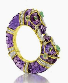 Jewelry Designer Blog. Jewelry by Natalia Khon: Jewellery Masterpieces. Amethyst bangle bracelet by David Webb