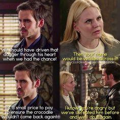 "#OnceUponATime 4x16 ""Poor Unfortunate Soul"" - Hook and Emma"