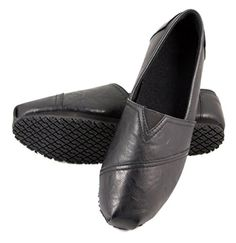 OwnShoe Womens Slip Resistant Shoes Fashion Casual Work for Waitress (6.5, Black) - Brought to you by Avarsha.com