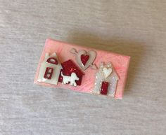 Vintage+HOUSE+PIN+BY+LUCINDA,+Room+At+The+Inn+Brooch+Pin,+Pinks,+EXC+#HousePinsByLucinda