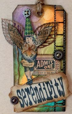 Love this fairy altered tag by Rebecca from Scrapping on the edge blog