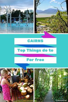 If you are planning to visit Northern Australia, then North Tropical Queensland and Cairns must be on your list. This is the ultimate guide to fun things to do in Cairns for free! Cairns Australia, Australia Travel, Western Australia, Australia 2017, Travel Around The World, Around The Worlds, Australian Continent, Free Things To Do, Fun Things