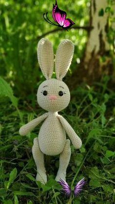 Crochet bunny pattern, cute rabbit pdf pattern in english, amigurumi bunny tutorial  <br> Crochet Bunny Pattern, Crochet Rabbit, Crochet Animal Patterns, Amigurumi Patterns, Doll Patterns, Amigurumi Toys, Diy Crochet And Knitting, Crochet Dolls, Halloween Crochet