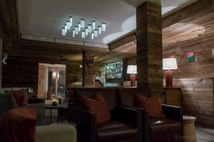 Lounge at The Capra Hotel, Saas-Fee Switzerland