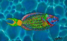 Silk Painting Painting - Stoplight Parrotfish by Daniel Jean-Baptiste Original Paintings, Silk Painting, Fine Art America, Painting, Selling Art, Art, Tropical Art, Purchasing Art, Silk Art
