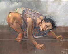 "Paula Rego Dog Woman 1994 Pastel on canvas 120 x 160 cm   50 x 66¾"""