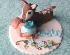WOODLAND BABY SHOWER Deer Cake Topper por BabyCakesByJennifer