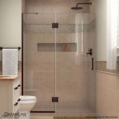 "DreamLine Unidoor-X 72"" x 50"" Pivot Hinged Shower Door Trim Finish:"