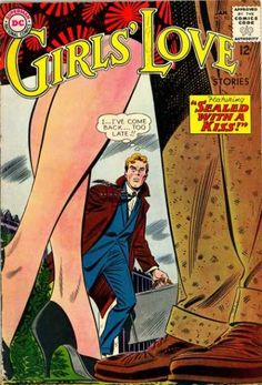Girls' Love Stories 92 - Approbed By The Comics Code - 12 Cents - Stories - Man And Woman Together - Brief Case